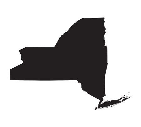 prefecture: black map of New York