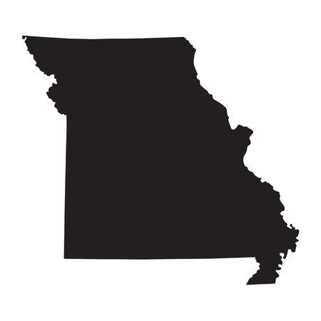 Black map of Missouri Illustration