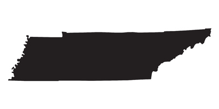tennessee: mapa negro de Tennessee