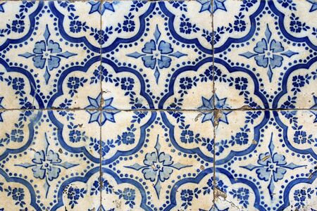 portuguese: Traditional portuguese tiles background Stock Photo