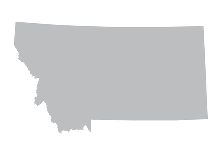 prefecture: gray map of Montana Illustration