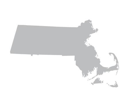 gray map of Massachusetts