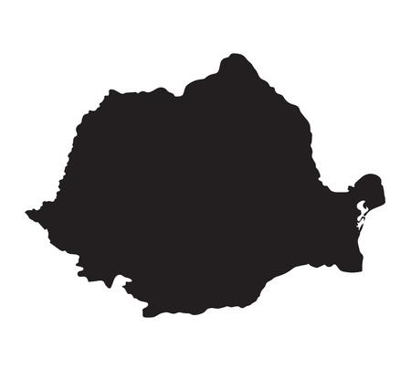 Black map of Romania