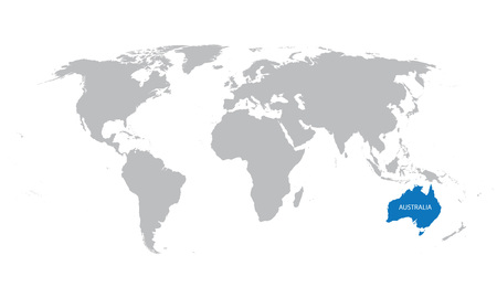 World map with indication of argentina royalty free cliparts world map with indication of australia vector gumiabroncs Image collections