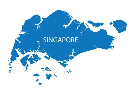 blauwe kaart van Singapore