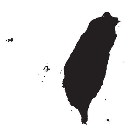 Black map of Taiwan