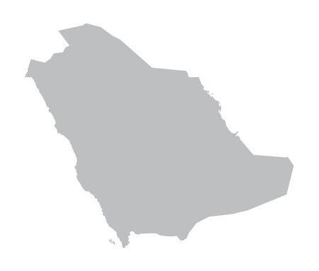 saudi arabia: gray map of Saudi Arabia