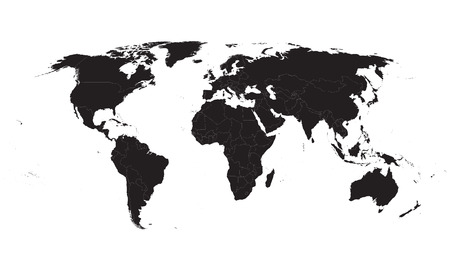 Vector gray world map royalty free cliparts vectors and stock black world map vector gumiabroncs Gallery