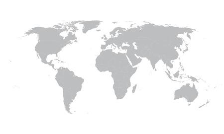 grijze kaart van de wereld