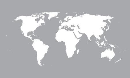 witte wereldkaart