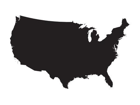 carte noire des États-Unis Illustration