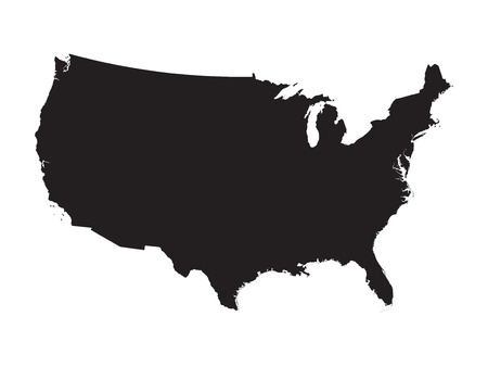 Zwarte kaart van de Verenigde Staten Stockfoto - 43581466