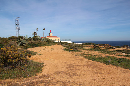Farol da Ponta da Piedade lighthouse in Lagos, Algarve, Portugal