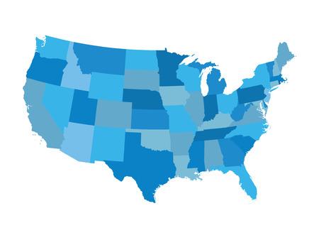 Bleu États-Unis carte Banque d'images - 43955642