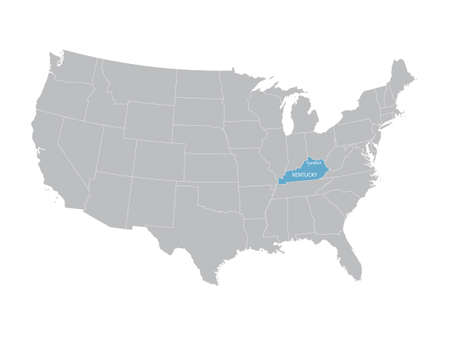 indication: United States map with indication of Kentucky
