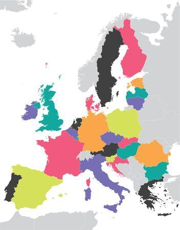 evropský: Barevné mapy Evropské unie