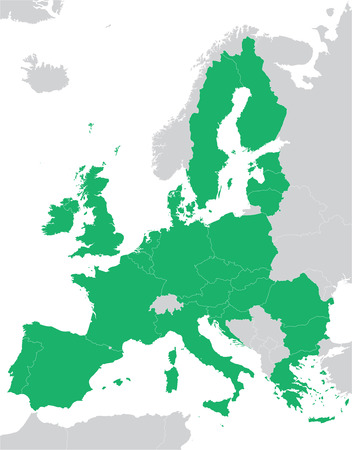 european: Green European Union map