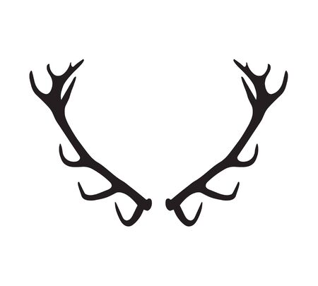 antlers silhouette: antlers silhouette Illustration
