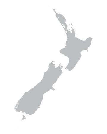 gray map of New Zealand