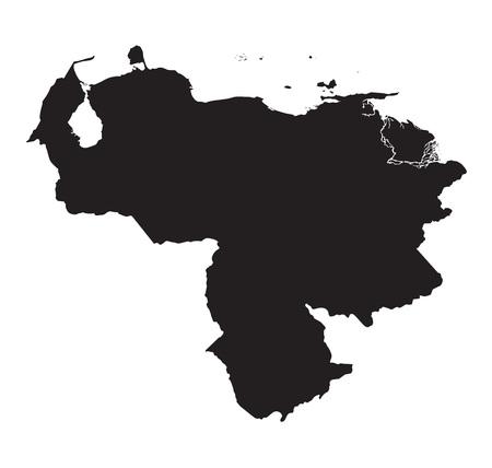 mapa de venezuela: El mapa negro de Venezuela