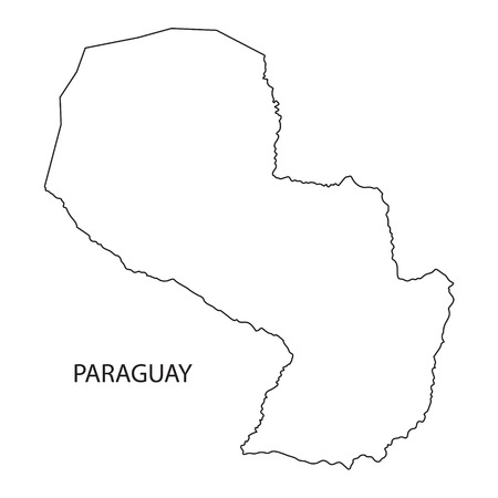 paraguay: outline of Paraguay map
