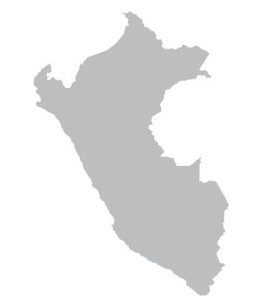 mapa del peru: mapa gris del Perú