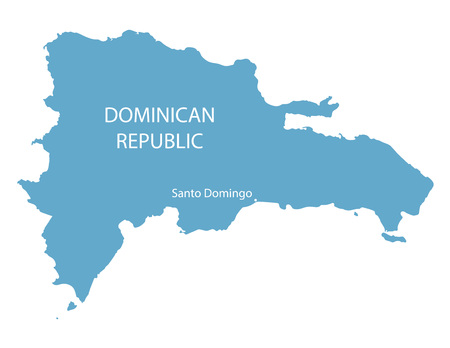 isolated: blue map of Dominican Republic