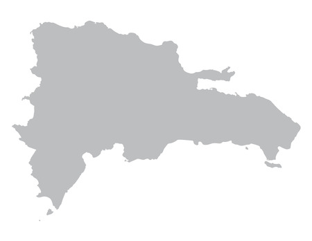 dominican republic: gray map of Dominican Republic Illustration