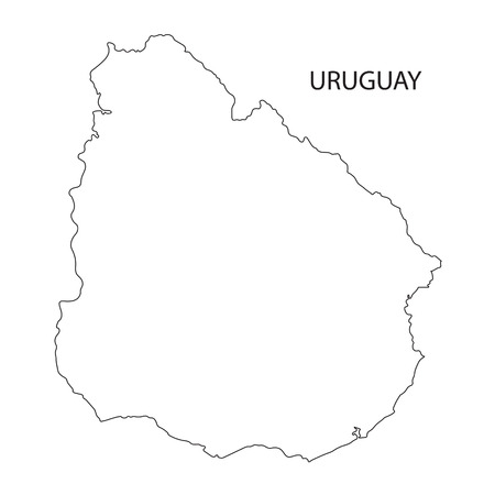 Outline Map Of Uruguay Royalty Free Cliparts Vectors And Stock - Uruguay blank map