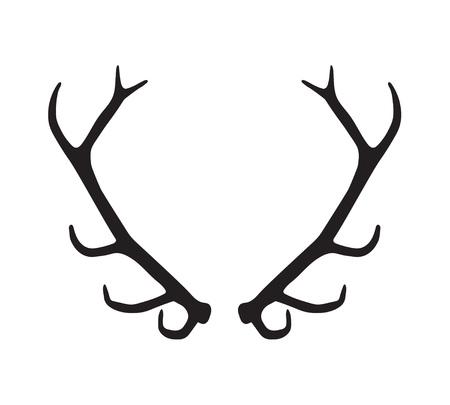black silhouette of antlers