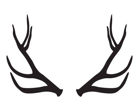 antlers: black silhouette of antlers
