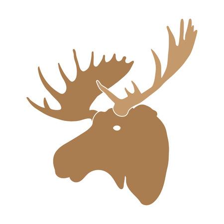 moose: moose deer head