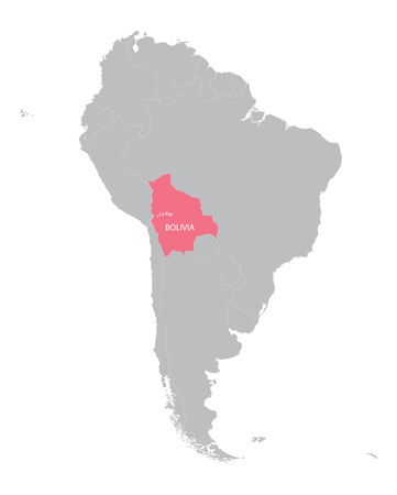 mapa de bolivia: mapa de Am�rica del Sur, con indicaci�n de Bolivia