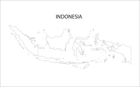 outline of Indonesia maps