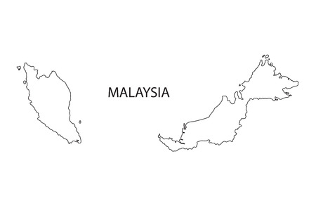 outline maps: outline maps of Malaysia Illustration