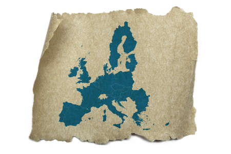 europe vintage: European Union map on old paper texture Stock Photo
