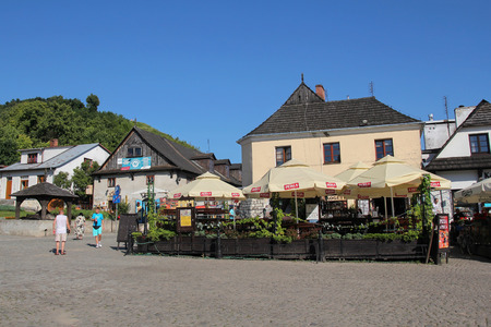 localization: Kazimierz Dolny - JULY 7: market square in Kazimierz Dolny; on July 7, 2015 in Kazimierz Dolny, Poland. Its a small town with the most beautiful localization and historic architecture in Poland. Editorial