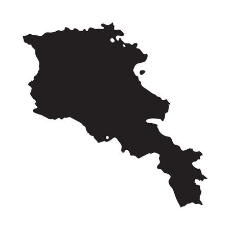 yerevan: Black map of Armenia Illustration