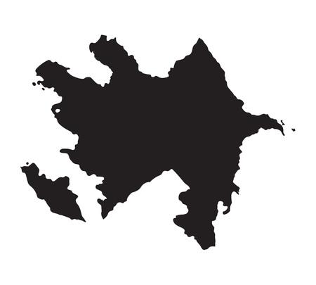 baku: Black map of Azerbaijan
