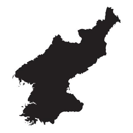 pyongyang: Black map of North Korea