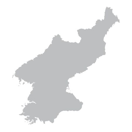 north korea: gray maps of North Korea Illustration