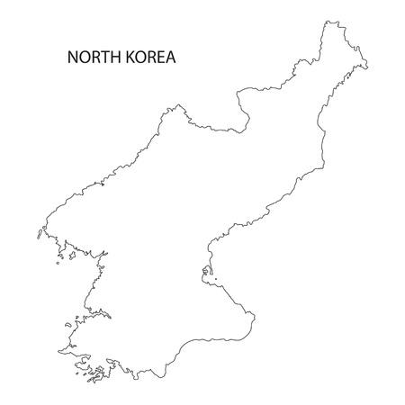 outline maps: outline maps of North Korea Illustration