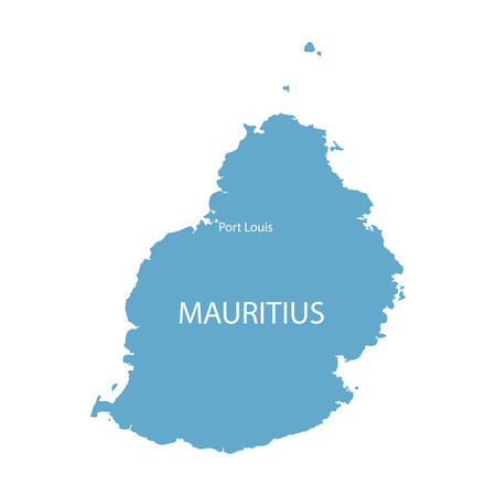 Bleu vecteur carte de l'île Maurice