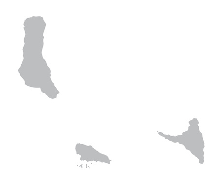 comoros: gray map of Comoros