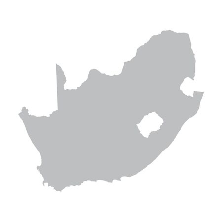 gray vector map of South Africa Illustration