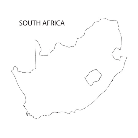 cape town: outline of South Africa map