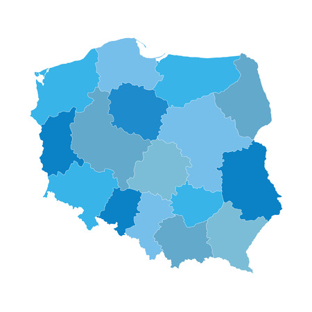 baltic: blue map of Poland