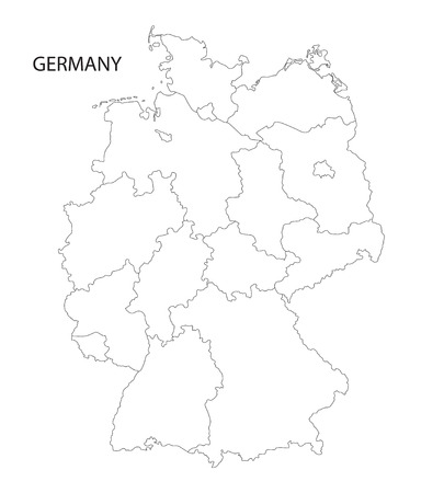 Black Abstract Map Of Germany Royalty Free Cliparts Vectors And - Outline map of germany with states