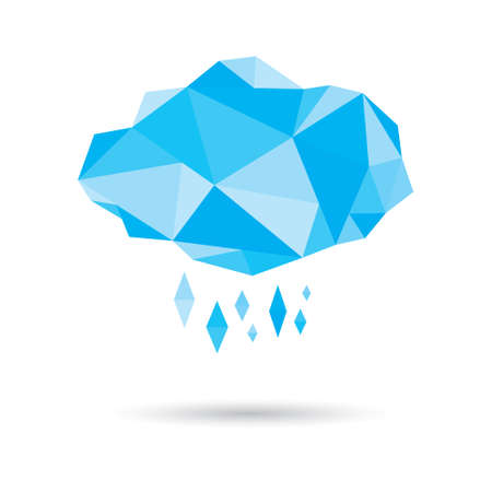 raining: polygonal raining cloud