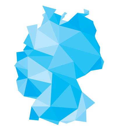 european map: polygonal map of Germany